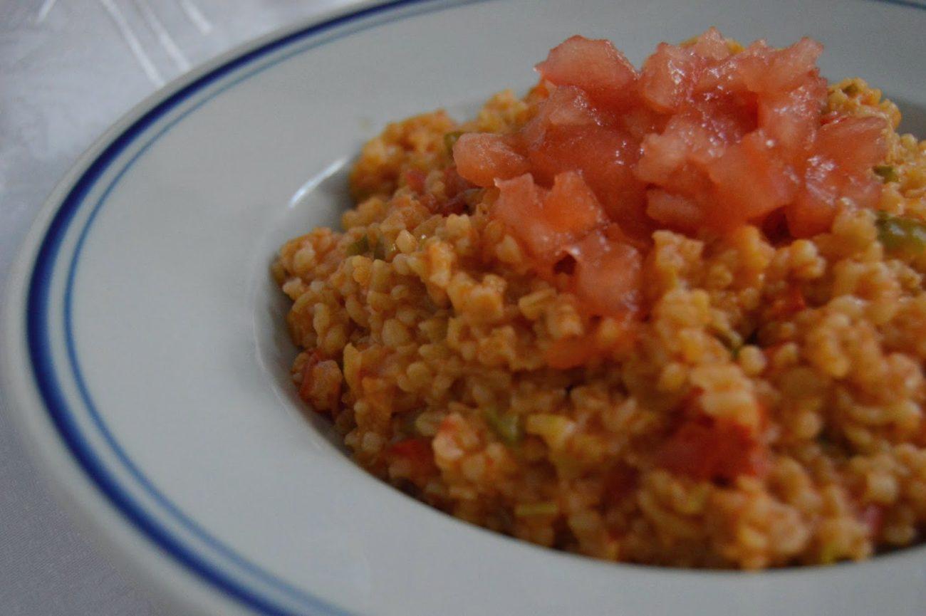 Булгур с домати