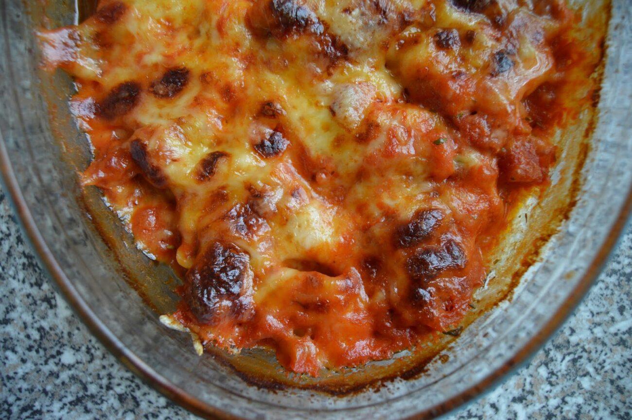 Маулташен на фурна с домати и моцарела