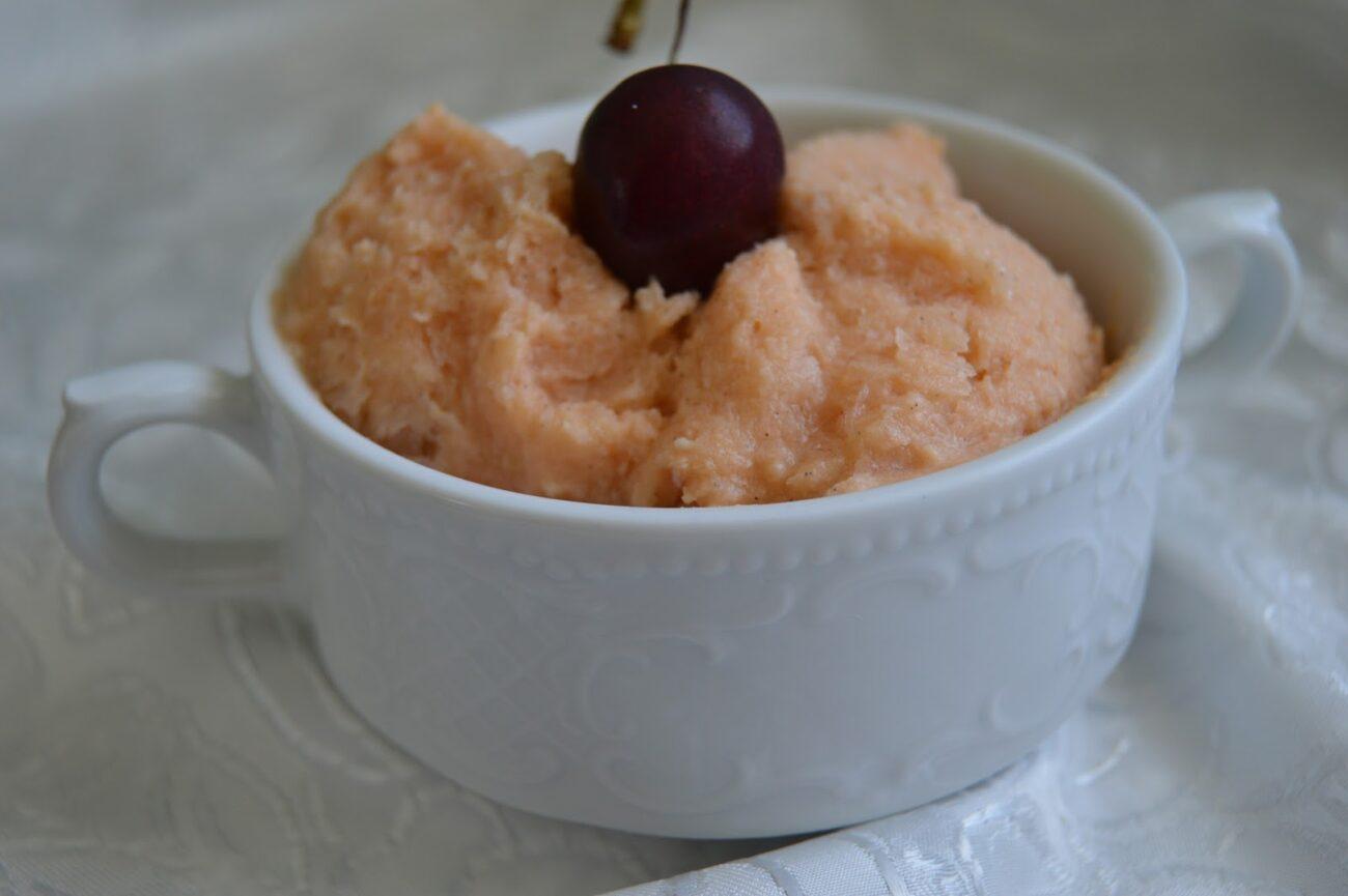 Веган сладолед с диня и ванилия